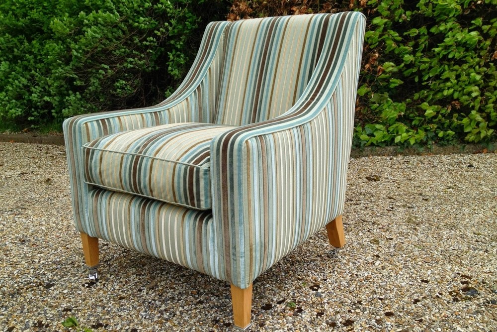Bespoke Striped Armchair