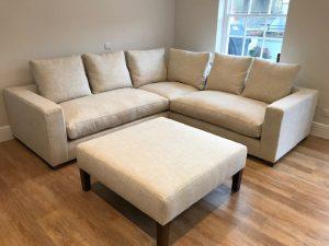 Bespoke Corner Sofa & Footstall