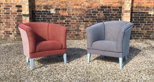 Two Upholstered Tub Chairs